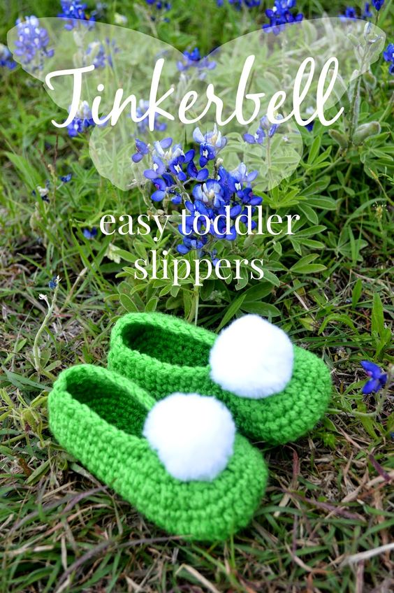Tinkerbell Slippers Free Pattern.