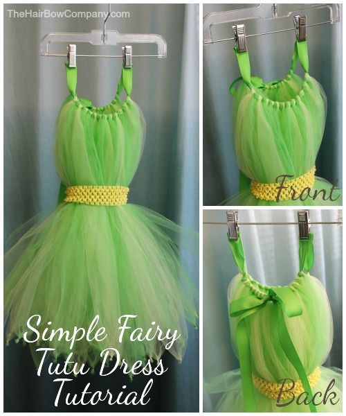 Tinkerbell Tutu Dress Tutorial.