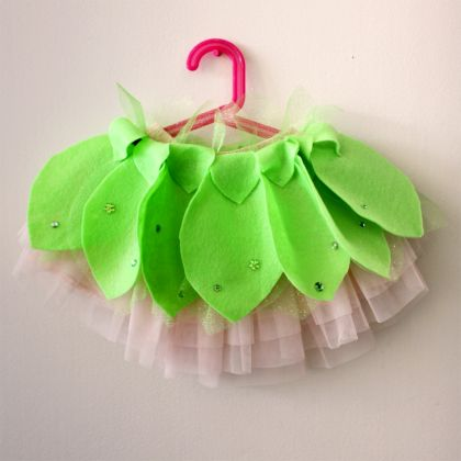 No Sew Tinker Bell Inspired Skirt.