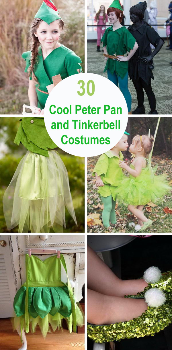 30+ Cool Peter Pan and Tinkerbell Costumes.