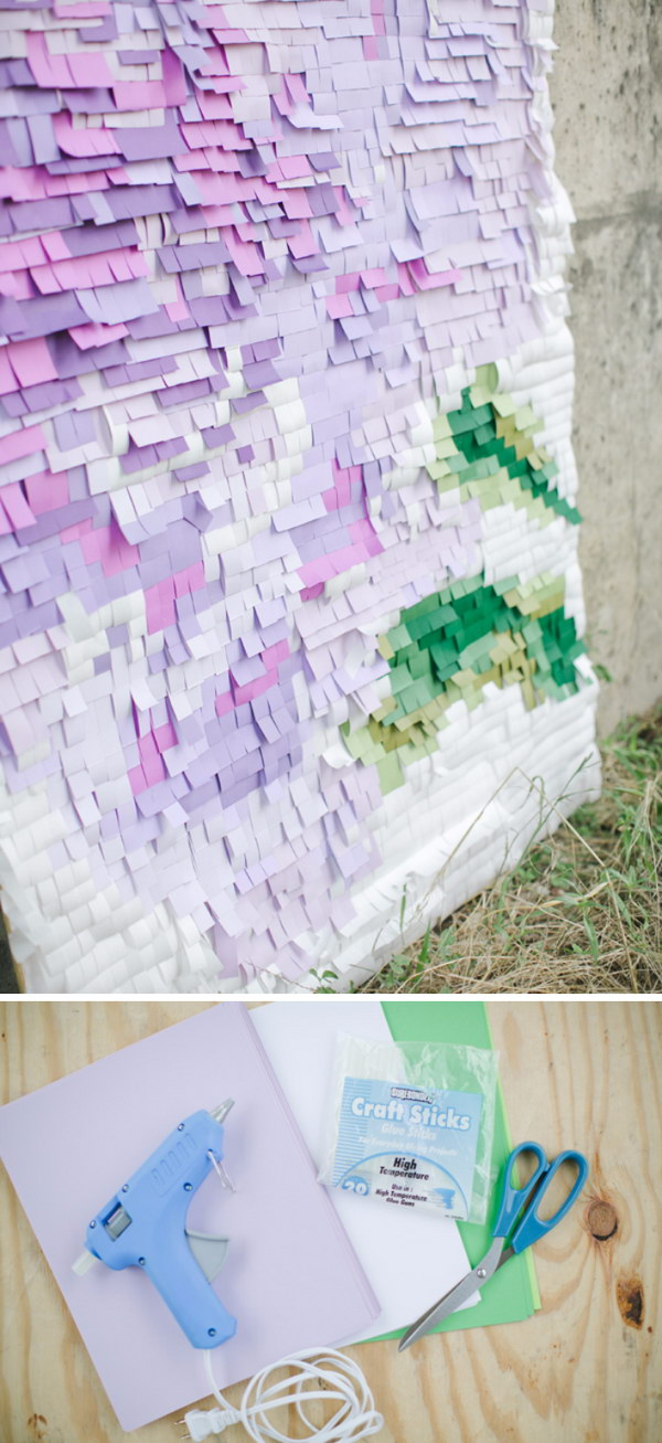 DIY Pixelated Backdrop