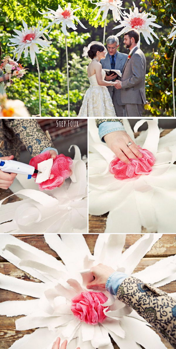 DIY Giant Flowers Photo Booth Backdrop