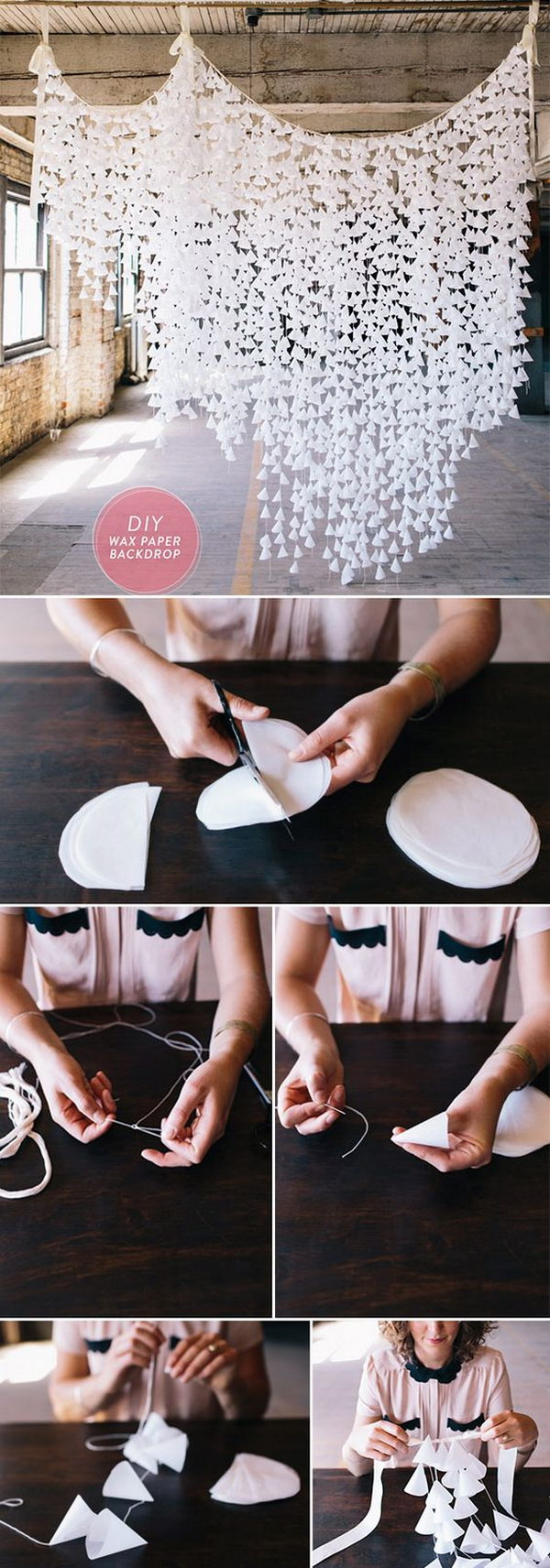 DIY Wax Paper Photo Booth Backdrop