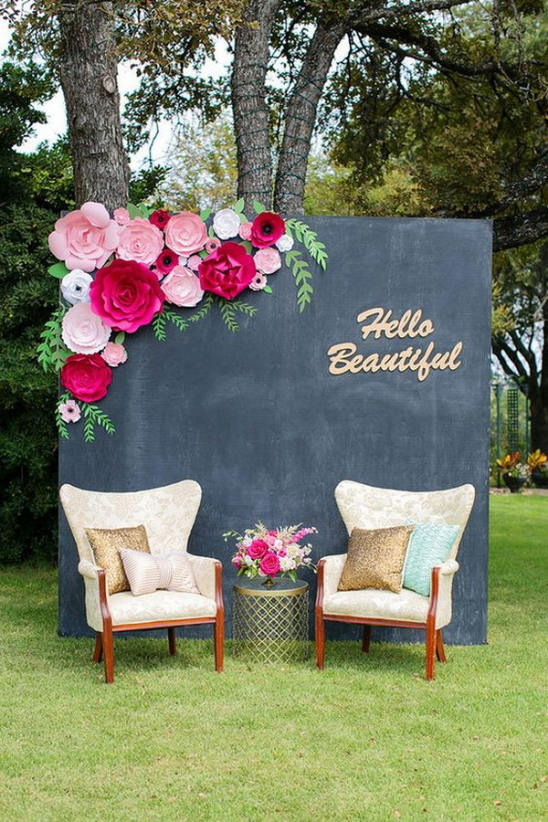DIY Paper Flower Photo Booth  Backdrop