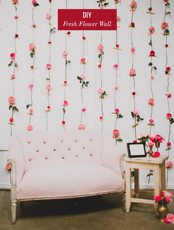 DIY Fresh Flower Wall
