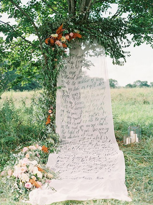 Calligraphy Wedding Ceremony Photo Booth Backdrop