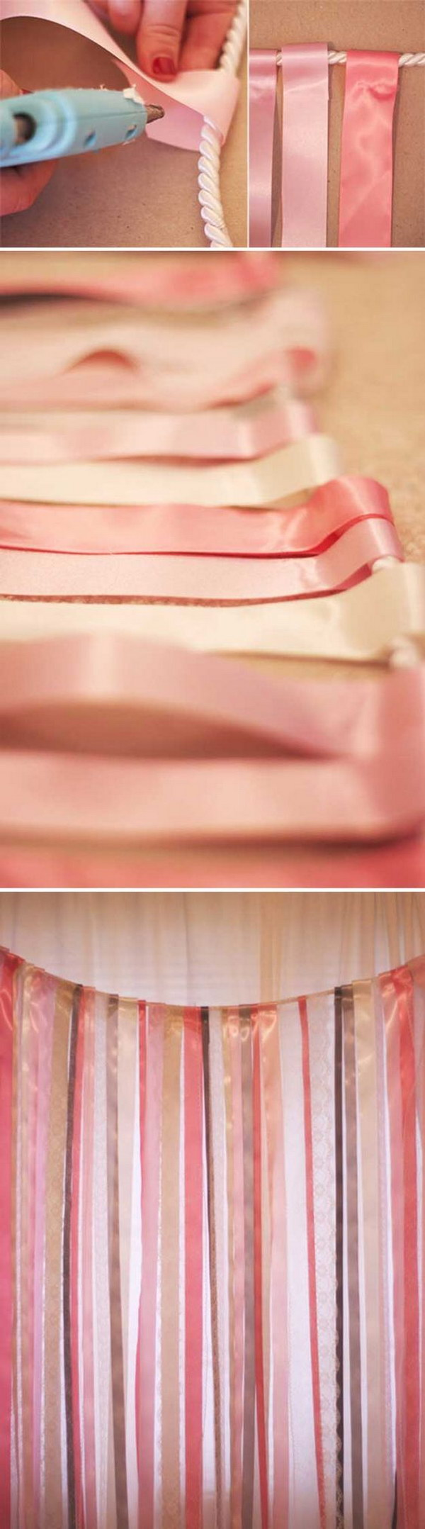 DIY Ribbon and Lace Backdrop