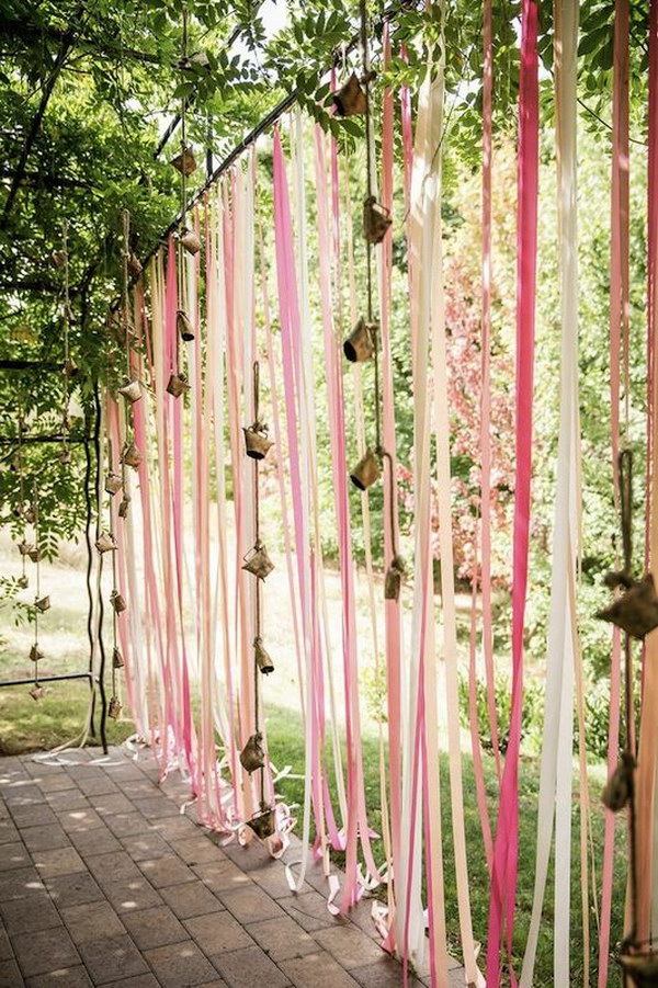 DIY Colored Streamer Photo Booth Backdrop