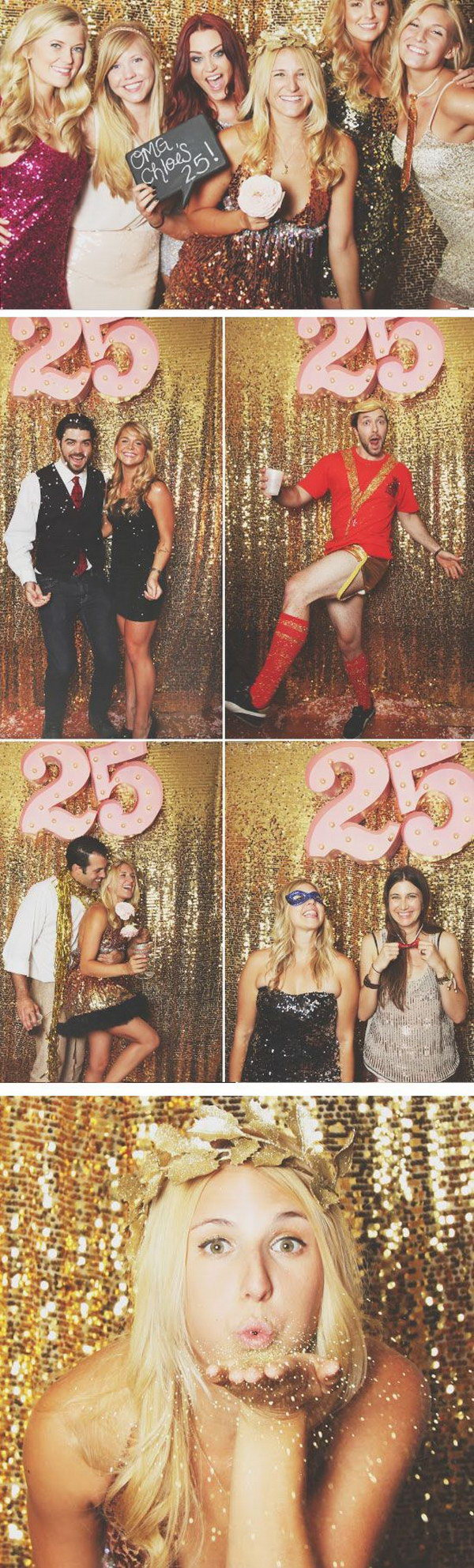 DIY Gold Sequin Photo Booth Backdrop