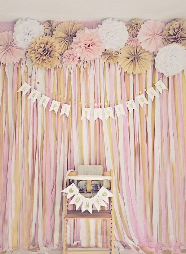 Gold Glitter Banner Backdrop
