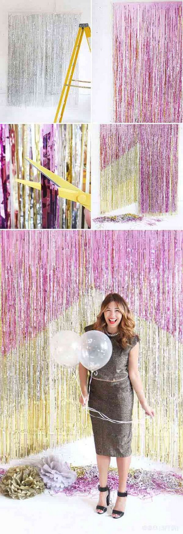 DIY Chevron Fringe Backdrop