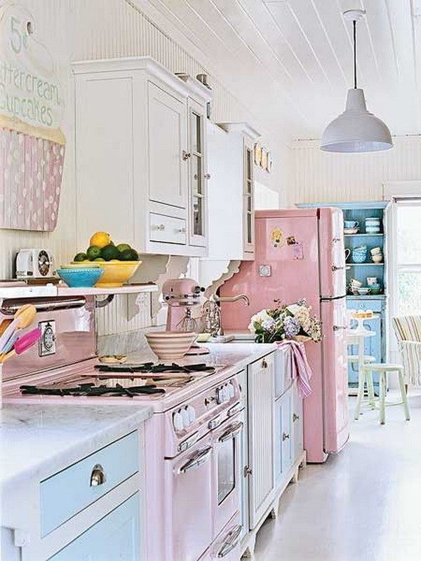 1 shabby chic kitchen designs