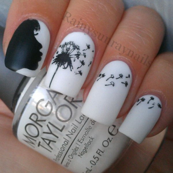13 dandelion nail art