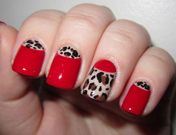 18 half moon nail art