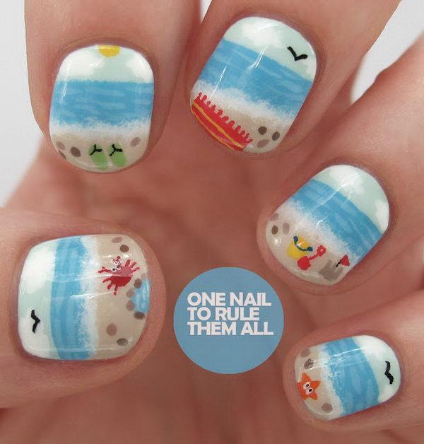 22 beach nail art