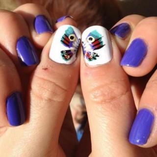 30+ Pretty Butterfly Nail Art Designs