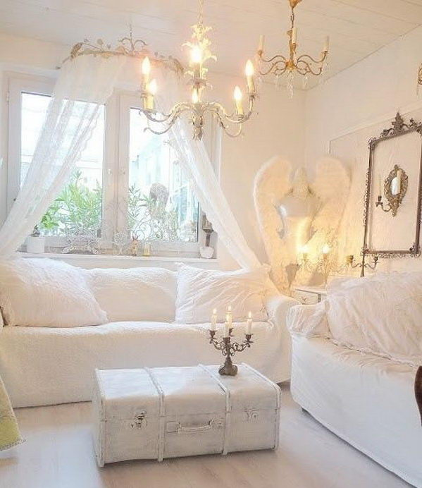 7 romantic shabby chic living room ideas