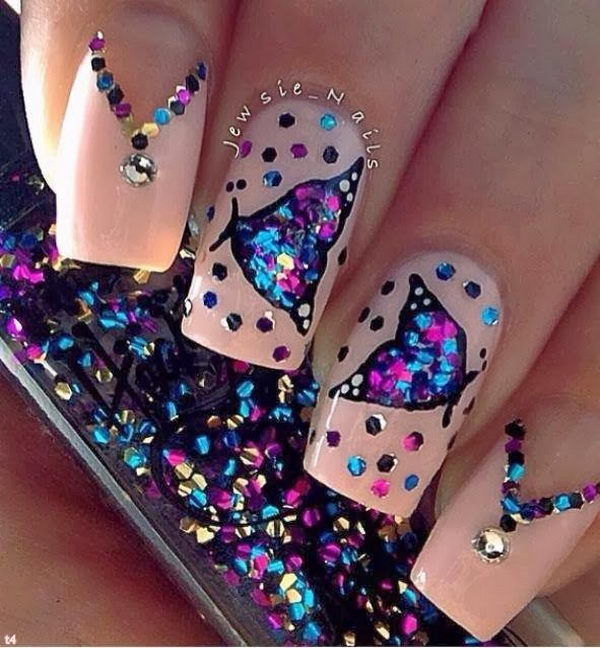 Awesome Butterfly Nail Art.