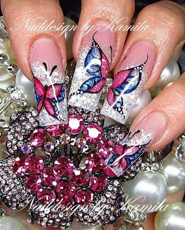 Wonderful Butterfly Nail Designs.