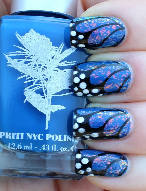 Beautiful Butterfly Wings Nails.
