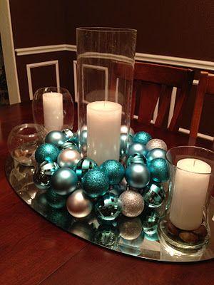 Christmas Ornament Centerpiece.