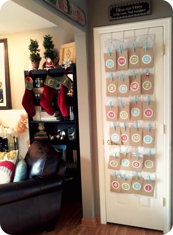 Shoe Organizer Advent Calendar.