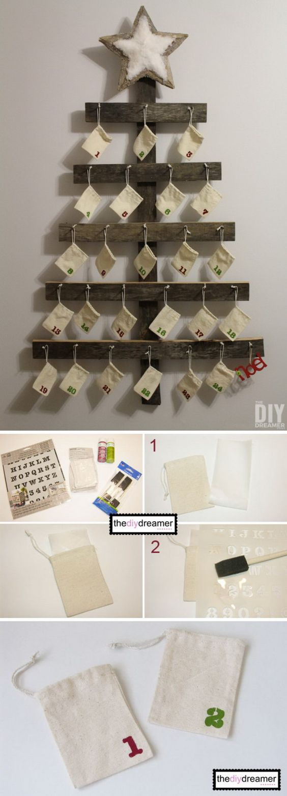 DIY Wall Mounted Advent Calendar.