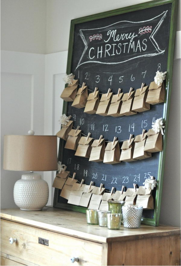 DIY Advent Calender With 25 Acts of Random Kindness.
