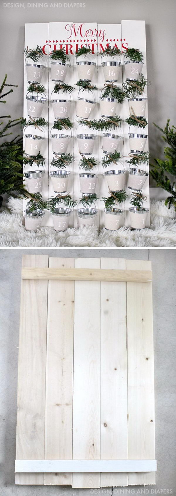 Rustic DIY Mini Bucket Advent Calendar.