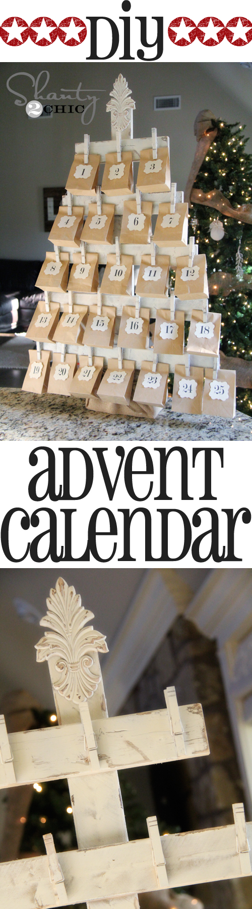 DIY Wood Advent Calendar with FREE Printables.
