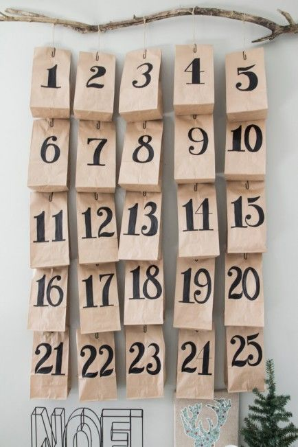 Paper Bag Advent Calendar.