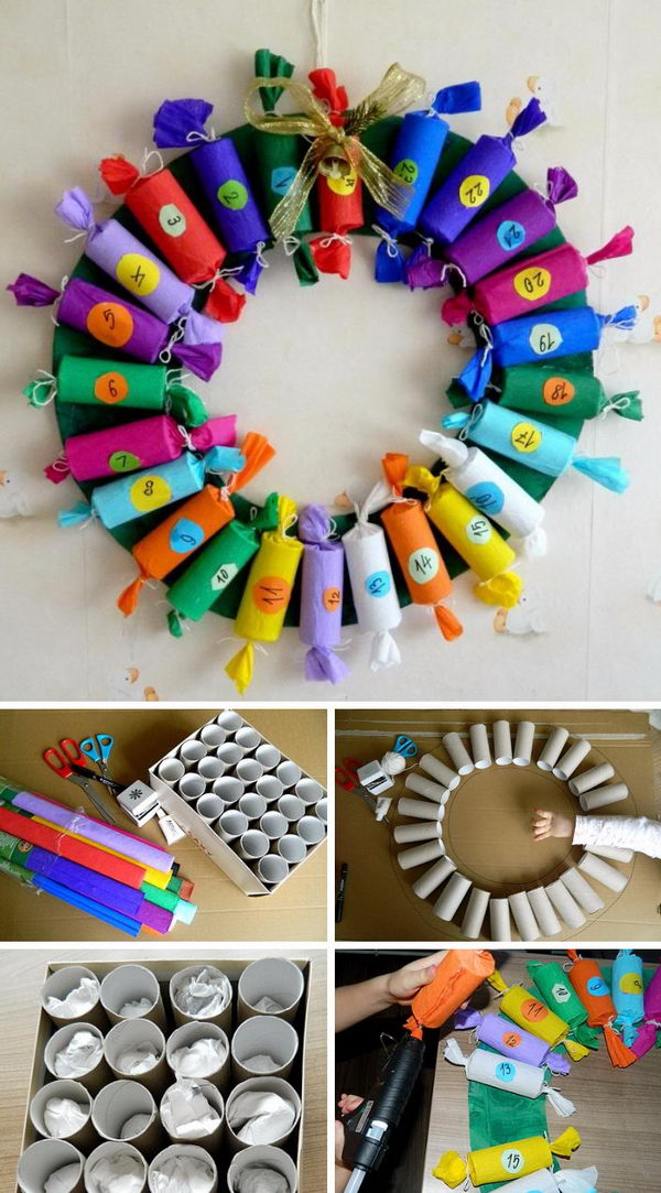 Toilet Paper Roll Advent Calendar.