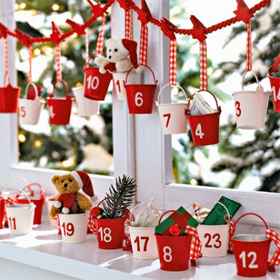 Metal Buckets Advent Calendar.