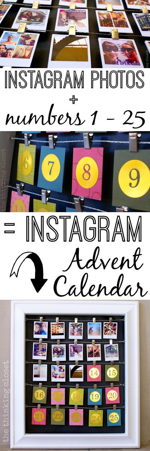 DIY Instagram Advent Calendar.