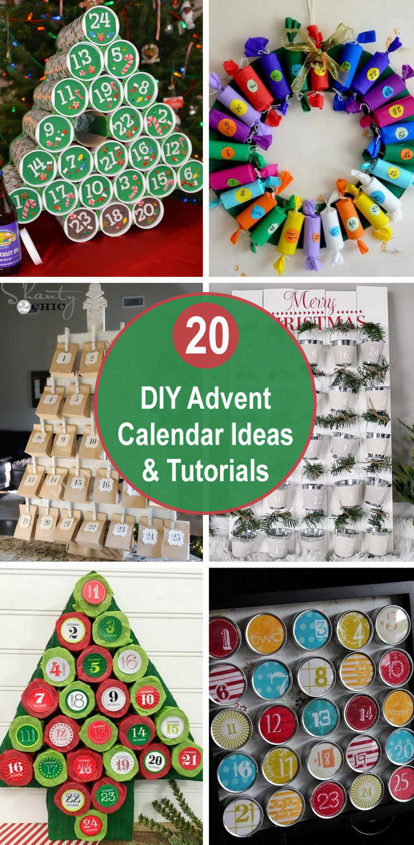 20+ DIY Advent Calendar Ideas & Tutorials.