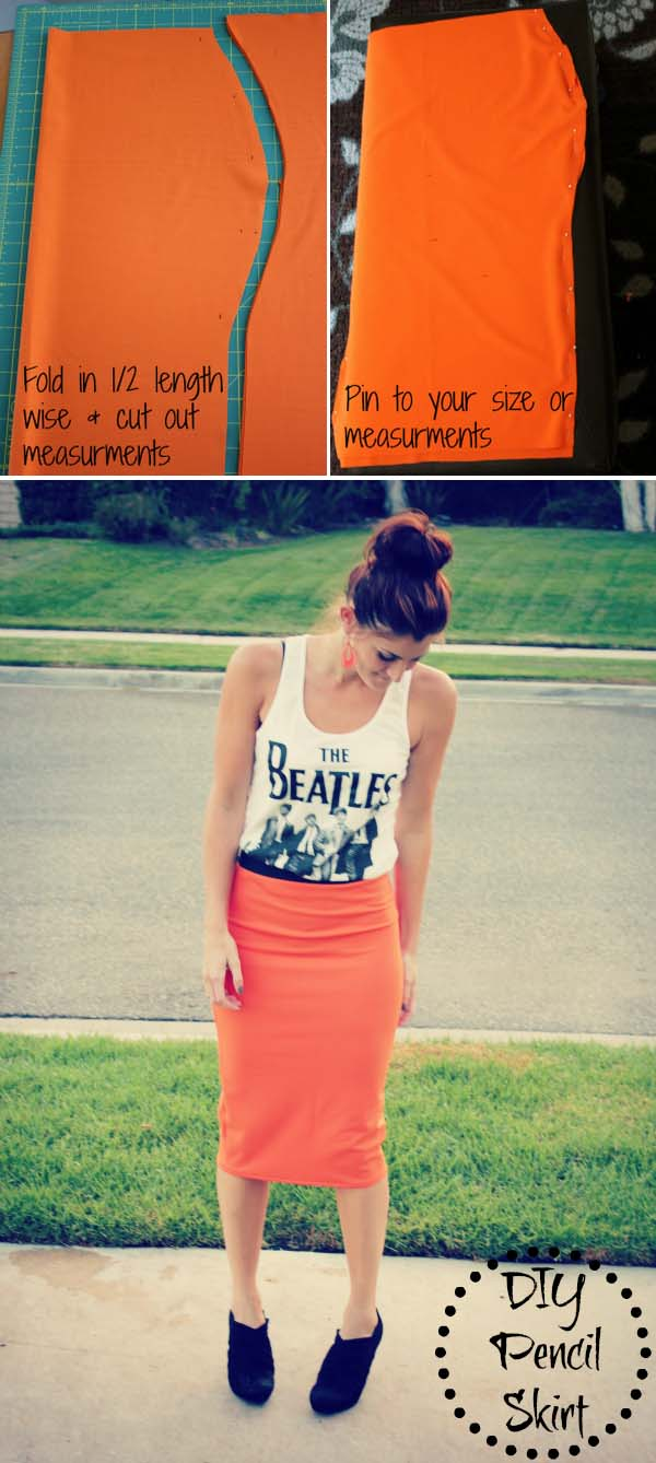 DIY Fitted Pencil Skirt. See how