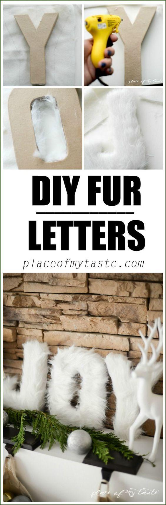 DIY Fur Letters.