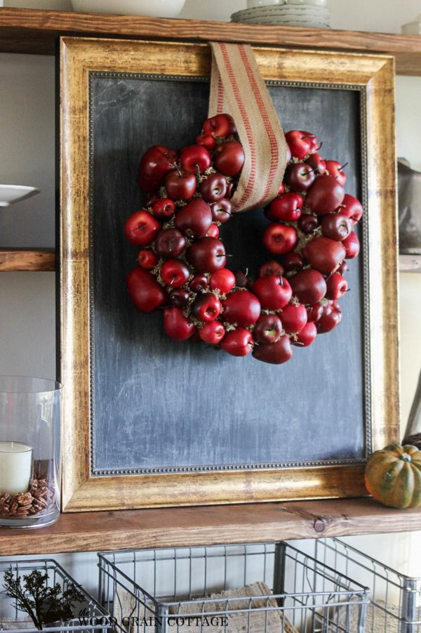 DIY Apple Wreath.
