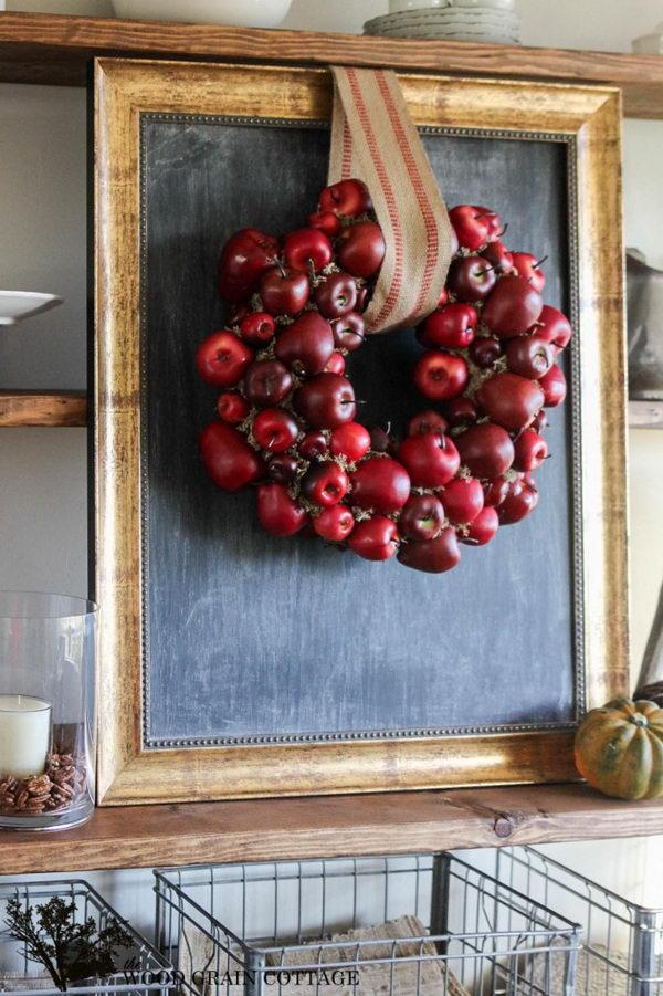 DIY Apple Wreath.