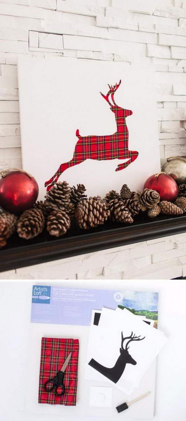 DIY Reindeer Canvas.