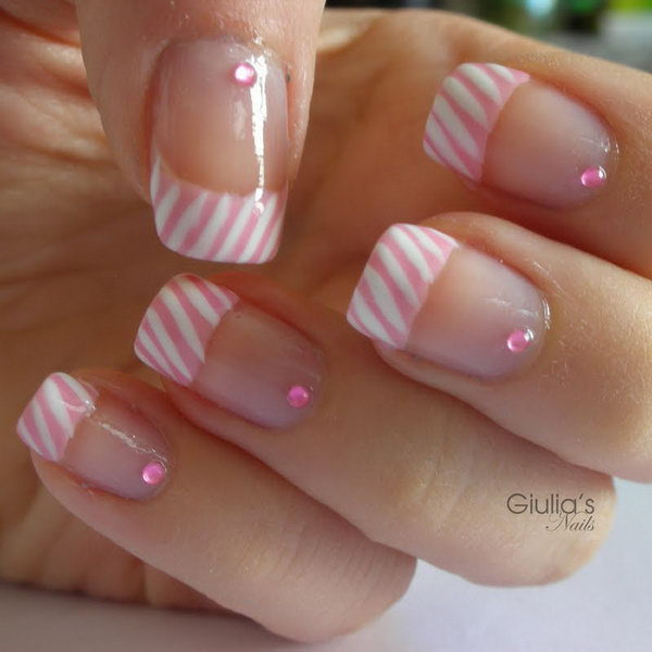 French Design Nail Art Gallery: 60 Fashionable French Nail Art Designs And Tutorials