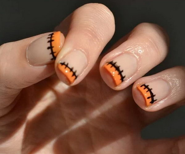 Halloween French Manicure.