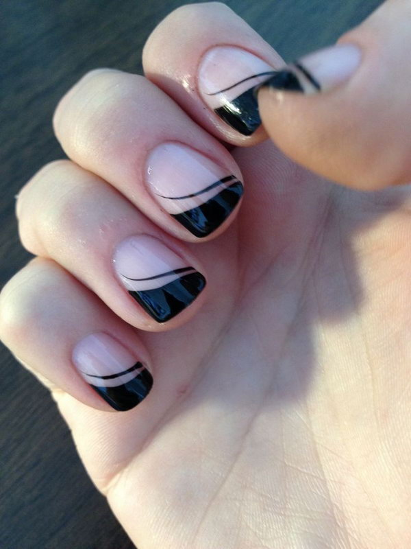 Black French Nail Tips.
