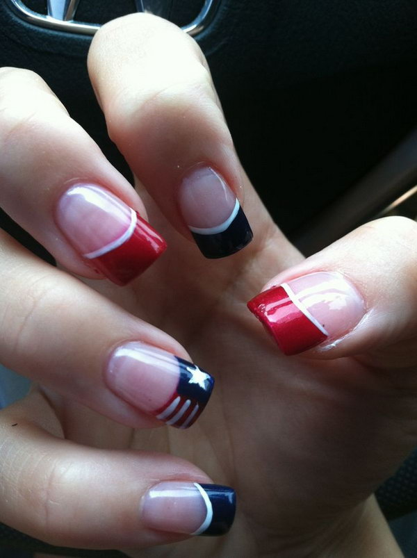 4th Of July French Mainicure.