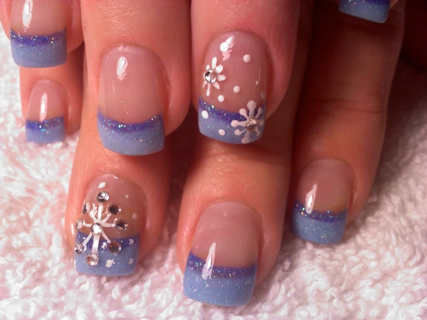French Nails and Snow Maiden.