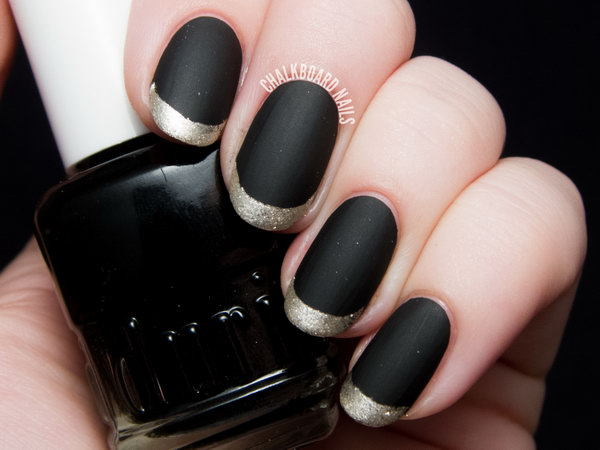 Matte Metallic Gold French Tips. Get the directions
