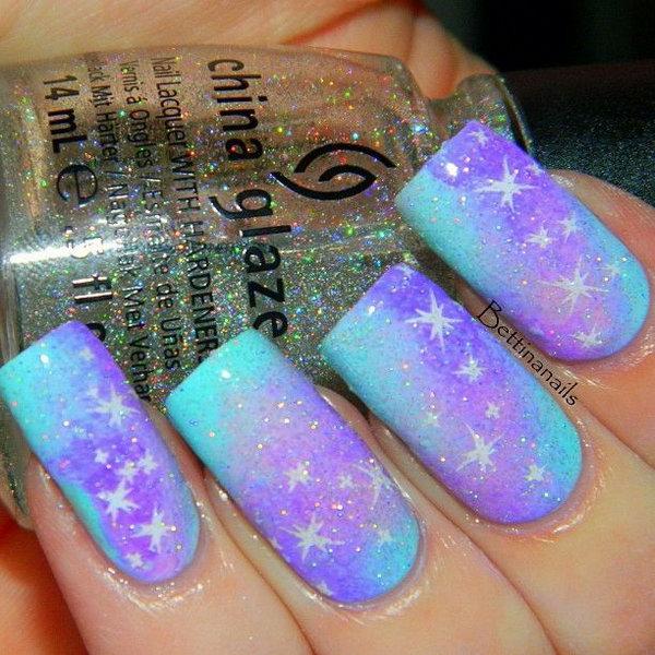 Galaxy Nail Art.