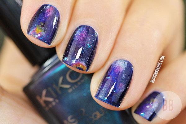 Galaxy Nail Design. See the tutorial