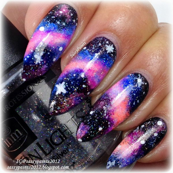Long Galaxy Nails - 50 Gorgeous Galaxy Nail Art Designs And Tutorials