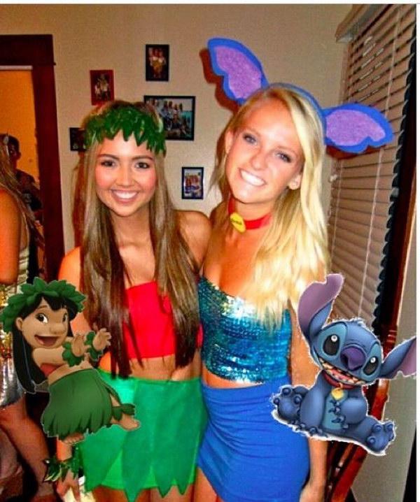 Lilo and Stitch Halloween Costume Idea  sc 1 st  Styletic & 35 Girlfriend Group Halloween Costume Ideas